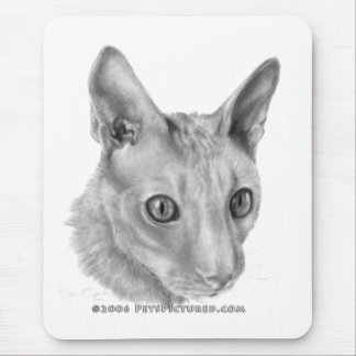 Cornish Rex cat Mouse Pad