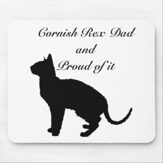 Cornish Rex Dad Mouse Pads