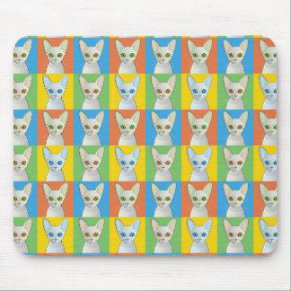 Cornish Rex Pop-Art Cat Mousepads