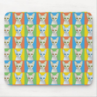 Cornish Rex Pop-Art Cat Mouse Pad