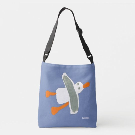 Cornish Seaside Seagull Blue bag by John Dyer
