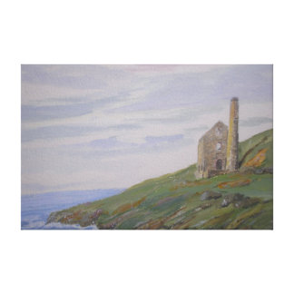 Cornish Tin Mine Coast Cornwall Canvas Print