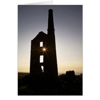 Cornish Tin Mine Greeting Card