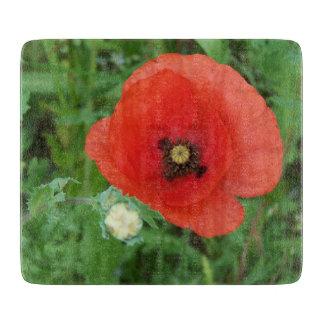 Cornish Wildflowers Poppy Cutting Board