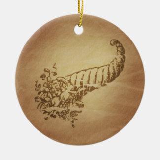 Cornucopia Abundance Roman Christmas Ornament
