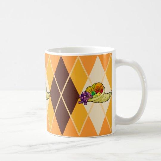Cornucopia Argyle Coffee Mug