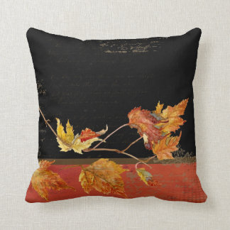 Cornucopia Autumn Harvest Leaves Pomegranate grape Cushion