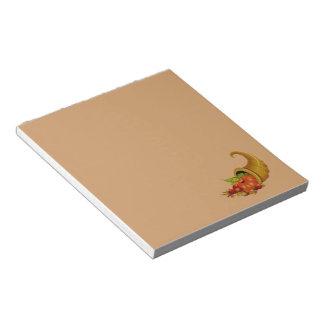 Cornucopia / Horn of Plenty Brown Notepad
