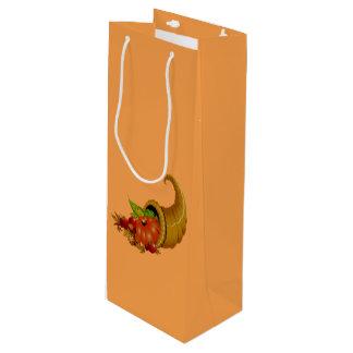 Cornucopia / Horn of Plenty Wine Gift Bag