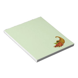 Cornucopia / Horn of Plenty Green Notepads