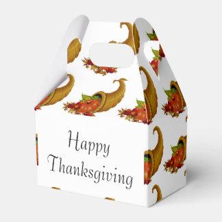 Cornucopia / Horn of Plenty Happy Thanksgiving Party Favour Box