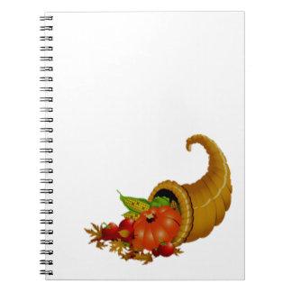 Cornucopia / Horn of Plenty Spiral Note Book