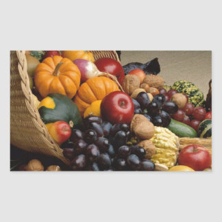 Cornucopia, Horn of Plenty Rectangular Sticker