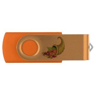 Cornucopia / Horn of Plenty Swivel USB 2.0 Flash Drive