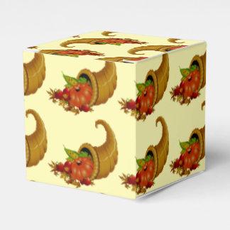 Cornucopia / Horn of Plenty Yellow Party Favor Boxes