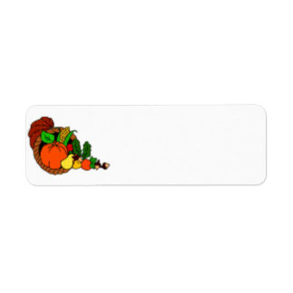 Cornucopia Thanksgiving Label Return Address Label