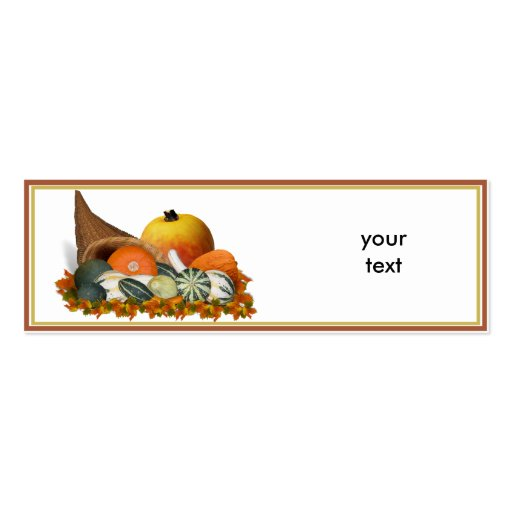 Cornucopia with Fall Gourds Business Cards