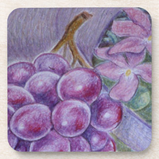 Cornucopia With Fruit And Flowers - Horn Of Plenty Coaster