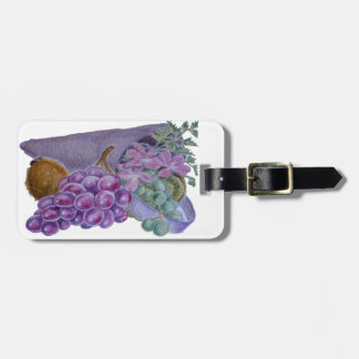 Cornucopia With Fruit And Flowers - Horn Of Plenty Luggage Tags