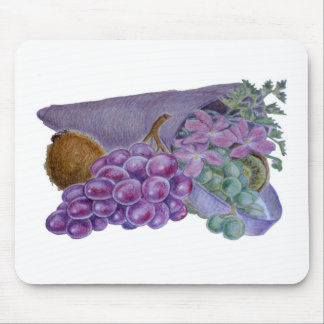 Cornucopia With Fruit And Flowers - Horn Of Plenty Mouse Pad