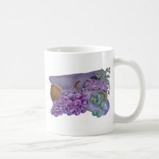 Cornucopia With Fruit And Flowers - Horn Of Plenty Mug