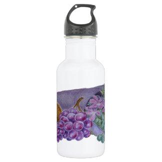 Cornucopia With Fruit And Flowers - Horn Of Plenty 532 Ml Water Bottle