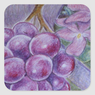 Cornucopia With Fruit And Flowers - Horn Of Plenty Square Sticker