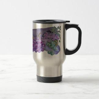 Cornucopia With Fruit And Flowers - Horn Of Plenty Stainless Steel Travel Mug