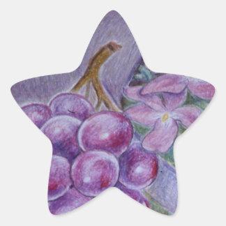 Cornucopia With Fruit And Flowers - Horn Of Plenty Star Sticker