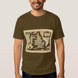 """Cornwaile"" Cornwall County Map, England T-shirts"