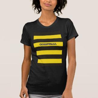 Cornwall Black and Gold Hoops T-Shirt