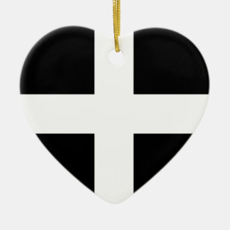 Cornwall - Cornish Flag St Piran s Christmas Ornament