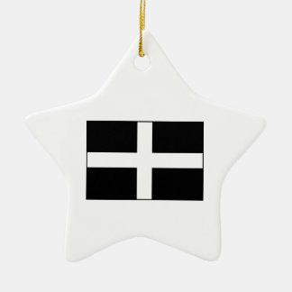 Cornwall Cornish Flag St Piran s Christmas Ornament