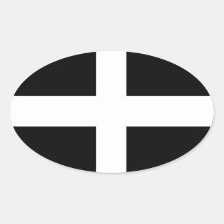 Cornwall - Cornish Flag St Piran s Oval Sticker