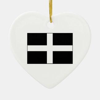 Cornwall Cornish Flag  St. Piran's Christmas Ornaments