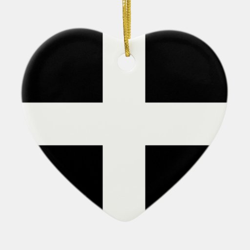 Cornwall - Cornish Flag / St. Piran's Christmas Ornament