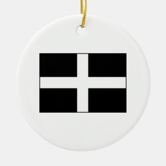 Cornwall Cornish Flag  St. Piran's Christmas Ornament
