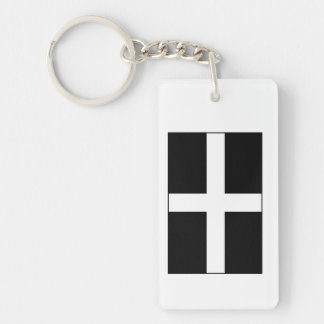 Cornwall Cornish Flag  St. Piran's Key Ring