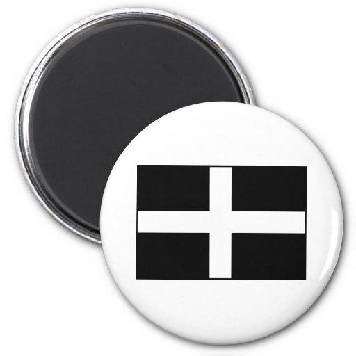 Cornwall Cornish Flag  St. Piran's Fridge Magnet