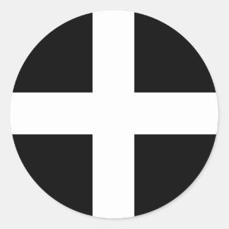 Cornwall - Cornish Flag / St. Piran's Round Sticker