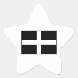 Cornwall Cornish Flag  St. Piran's Star Sticker