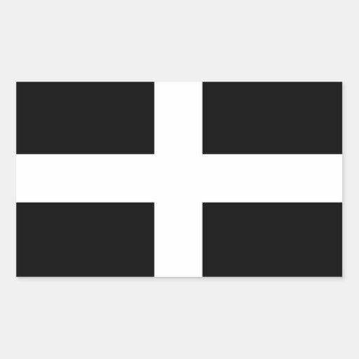 Cornwall - Cornish Flag / St. Piran's Rectangle Stickers