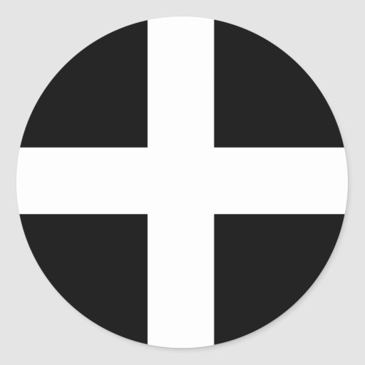 Cornwall - Cornish Flag / St. Piran's Stickers