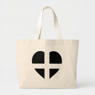 Cornwall Flag Heart Large Tote Bag