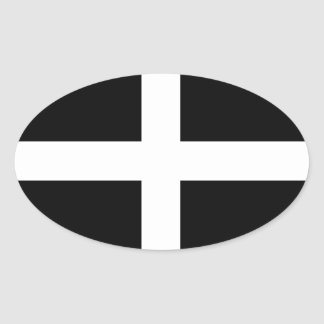 Cornwall Flag Oval Sticker