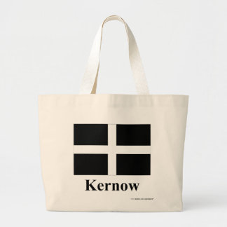 Cornwall Flag with Name in Cornish Large Tote Bag