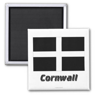 Cornwall Flag with Name Square Magnet