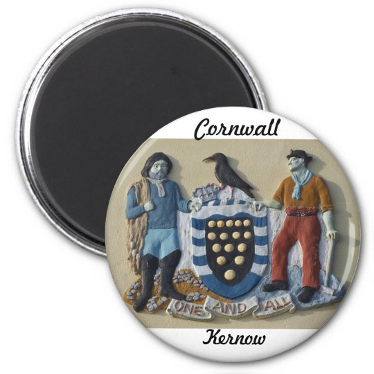 Cornwall Kernow Fridge Magnet Arms