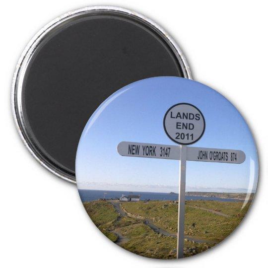 Cornwall Lands End 6 Cm Round Magnet