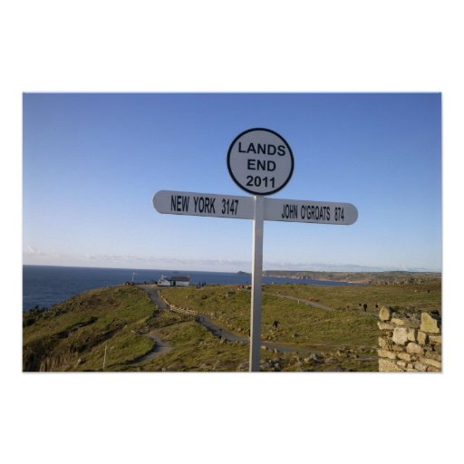Cornwall Lands End Poster